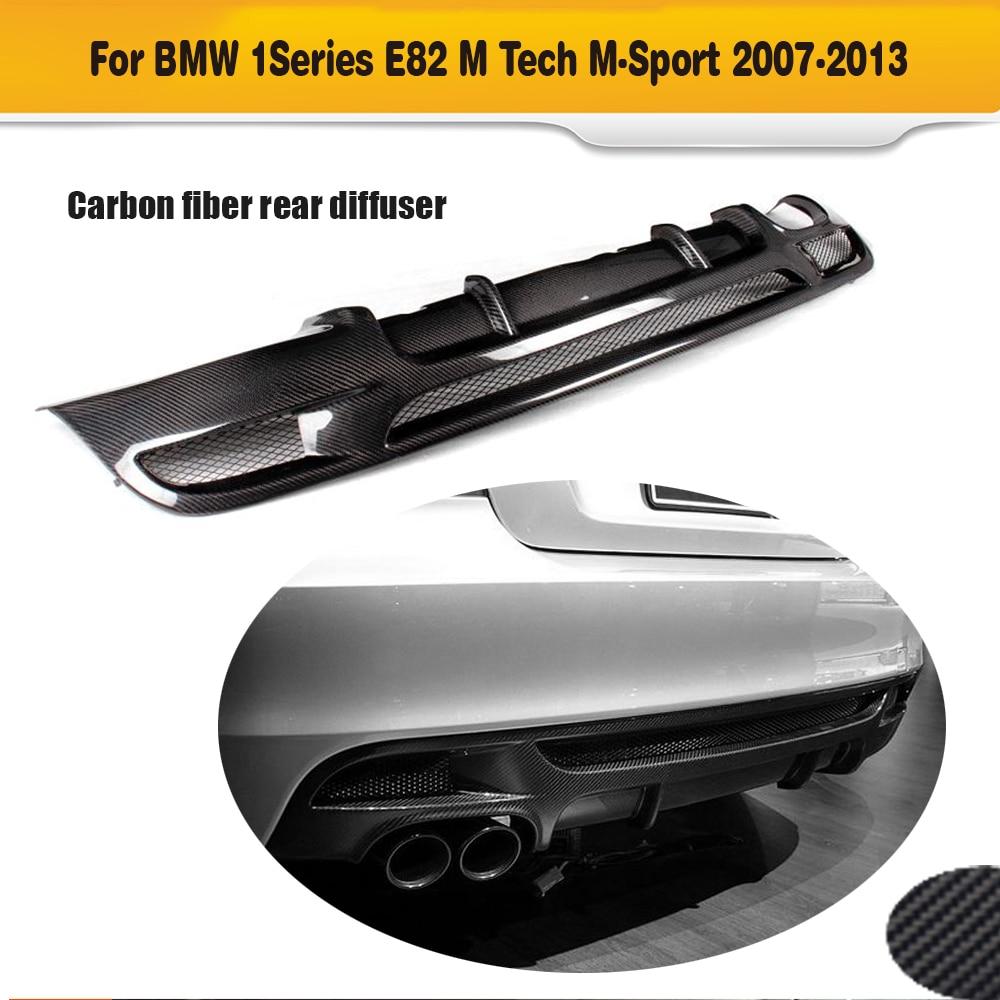 1 series carbon fiber car rear bumper lip spoiler diffuser for bmw e82 m sport sedan