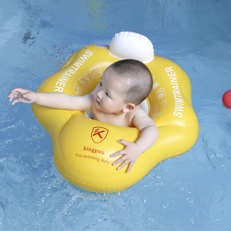 Kingpou Baby Seat Floating Inflatable Baby Swim Armpit Ring Kids Swimming Pool Accessories Childrens Toys Square Bathing Raft