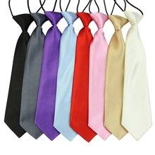 Галстук для мальчика, для малышей, для школы, для мальчика, для свадьбы, галстук, для шеи, эластичный, однотонный, с пятнами