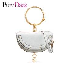 2019 роскошная женская сумка брендовая сумка через плечо Половина Сумочка с изображением Мун модная сумка через плечо из натуральной кожи кошелек кольцо женская сумка