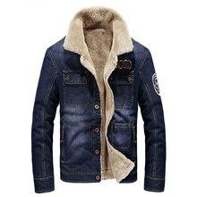 Brand denim jacket men fashion cowboy style jean jacket high quality thicken warm retro denim jacket
