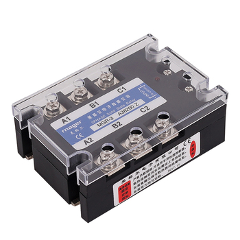 200A three phase Solid state relay (MGR-3 A48200 Z) SSR AC control AC 70-280VAC To 480VAC Free shipping With protective cover