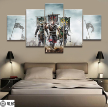 5 Pieces For Honor Game Comic Poster Modern Wall Art Decorative Modular Framework Picture Canvas HD Printed One Set Painting