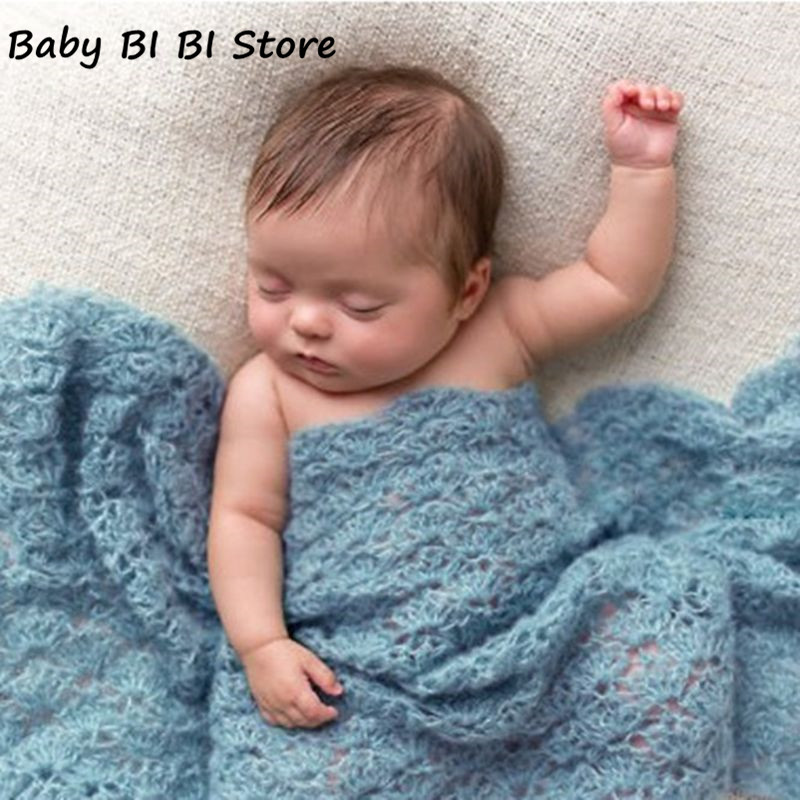 Photography Props Blanket Wraps Stretch Knit Wrap Newborn Photo Wraps Cloth