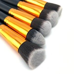 Image 5 - 10 шт., серебристые/Золотые кисти для макияжа, инструменты для макияжа, кисть для теней, кисть для основы, румяна и кисти для макияжа, инструменты для макияжа