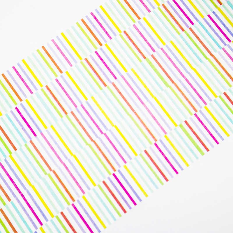 Радужная линия Васи маскирующая бумажная лента декоративный Декор липкий скрапбук в штучной упаковке офисные Канцелярские Декоративные клейкие ленты 1 шт./партия
