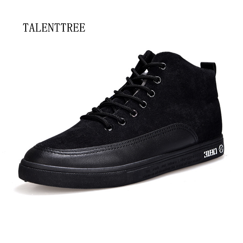 New 2018 Retro Style Men's Casual Shoes Spring Autumn Vintage Low Boots Lace Up High Top Men Shoes Size 39-44 men s leather shoes vintage style casual shoes comfortable lace up flat shoes men footwears size 39 44 pa005m
