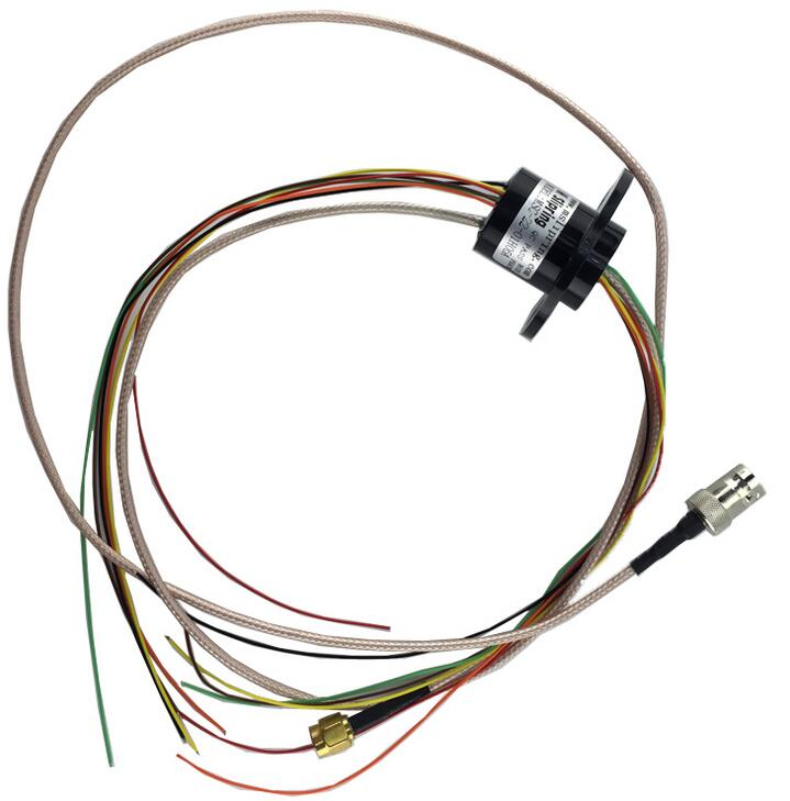 Free Shipping HD video slip ring 1 HD channel 1080P with 6 12 16 signal channels slip ring for Display 2A mercury slip ring 1 pole 50a