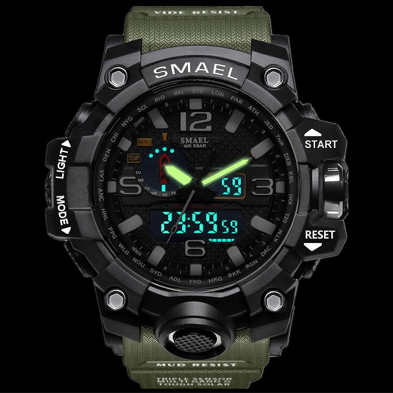 Men's Watches Fashion Digital-watch Mens Sport Analog Quartz-watch Dual Display Led Digital Electronic Brand Wrist Watches Relogio Masculino Digital Watches