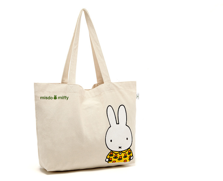 Online Shop Bunny Rabbit Shopping Tote Summer Canvas Beach Bag ...