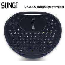 Sungi T8 2pcs Batteries Wireless Mini Keyboard 2.4G Air Fly Mouse Black Keyboard With Touchpad For Android TV Box Tablet PC