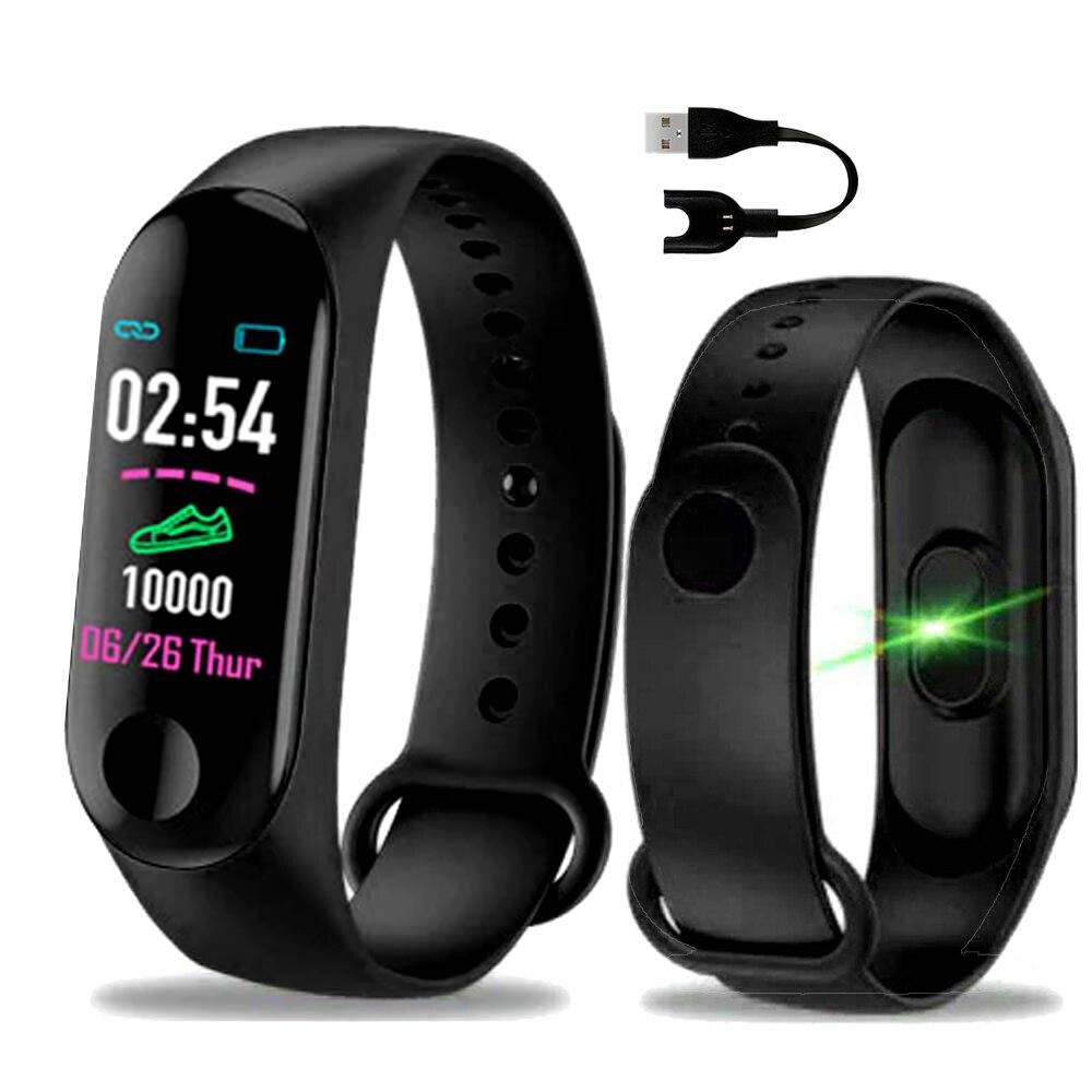 M3plus Esporte Pulseira Inteligente Pulseira SmartBand m3 plus mulheres da banda de Fitness Rastreador inteligente Pedômetro Monitor de Pressão Arterial