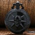 Moda fresco Hot jogo Cross Fire tema preto caso 3D pingente de quartzo Fob relógio de bolso com colar de cadeia presente para homens meninos