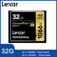 Lexar Tarjeta de memoria UDMA 7 128 gb CF 1066x32 gb hasta 160 MB/S cfast 64 gb tarjeta de-compacta para vídeo Volle HD/3D