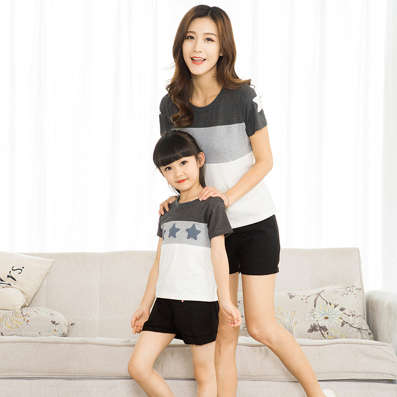 HTB1CiPQdBjTBKNjSZFwq6AG4XXan - Lovers Suit T Shirt Family Matching Outfits Mother Father Kids Girl Boys Shirts Clothes Mom Dad Son Outfits Family Look Clothing