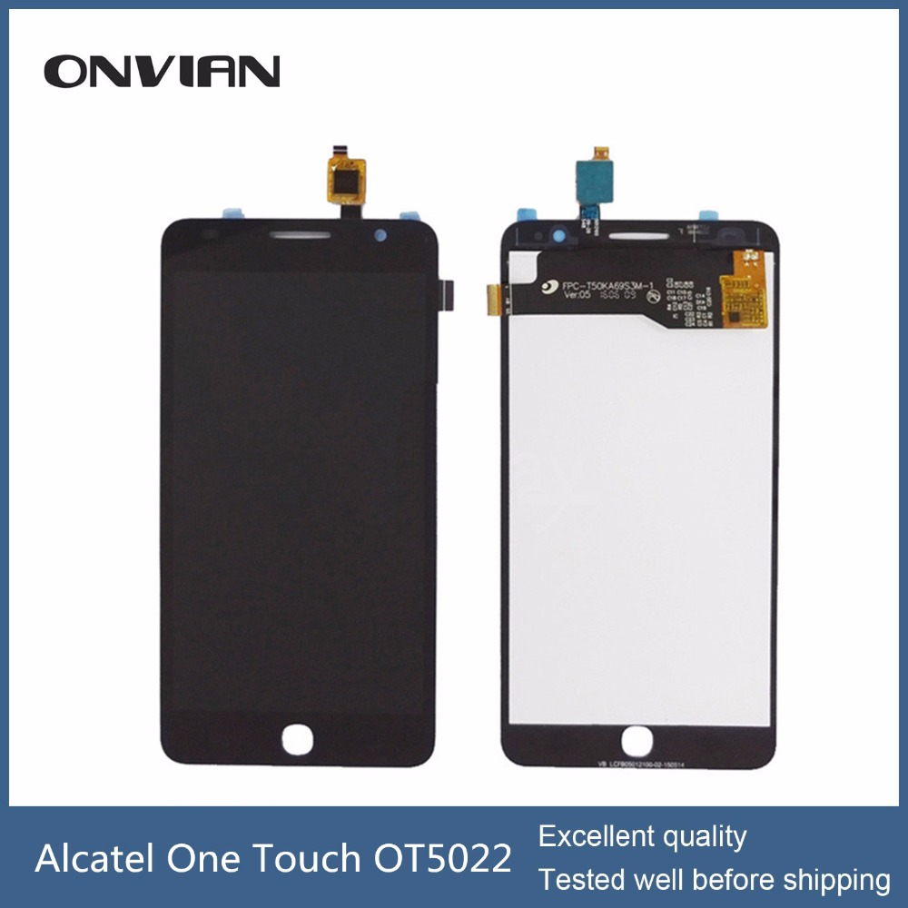 ФОТО High quality For Alcatel One Touch Idol 2 Mini S OT6036 6036 6036Y LCD Screen With Touch Screen Digitizer Assembly Black/White