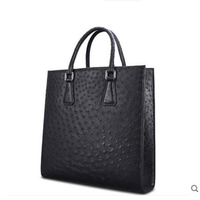 Cestbeau South Africa Imported Ostrich Leather Man Bag Men Handbga Vertical Business Handbag Whole Skin Making Briefcase On Aliexpress Alibaba