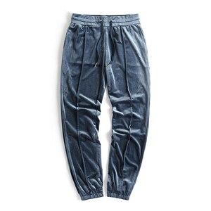 Image 5 - זר דברים Mens קטיפה סלעית נים Kanye West Streetwear Velour נים גברים סוודרי היפ הופ חולצות שחור/אדום/אפור