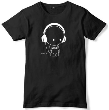 Music Character With Headphones Mens Funny Unisex T-Shirt