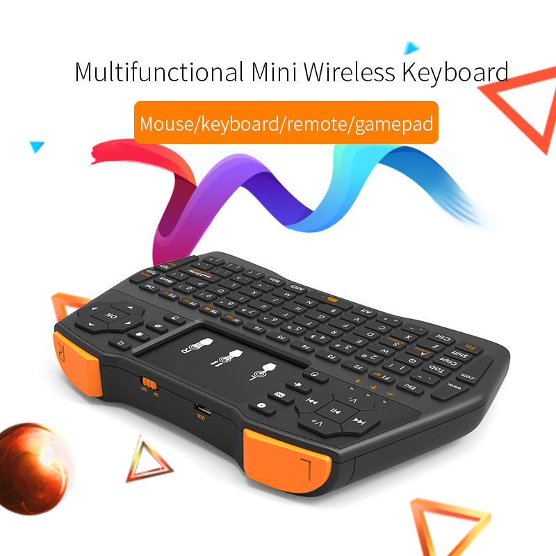 SIKAI Portable Mini Wireless Keyboard 2.4G Touchpad Fly Mouse Multimedia Handheld Air Mouse Remote Controller for TV Projector 2 4g mini wireless keyboard touchpad numeric keyboard charging switch screen for desktop laptop table