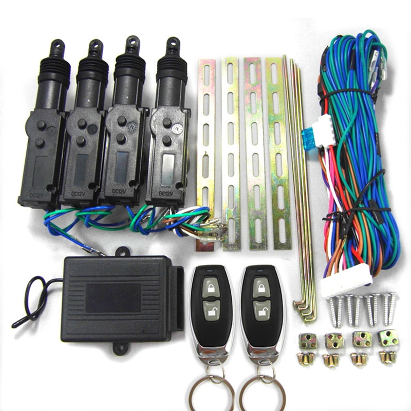 BIUYEE DC 12V Universal Car remote control Central door lock with Actuator kit Auto keyless Locking