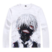 Tokyo Ghoul T-Shirt Ken Kaneki Shirt men's 3D print Long sleeves t-shirts Anime Tees Lovely cute Mens t-shirts anime shirts a
