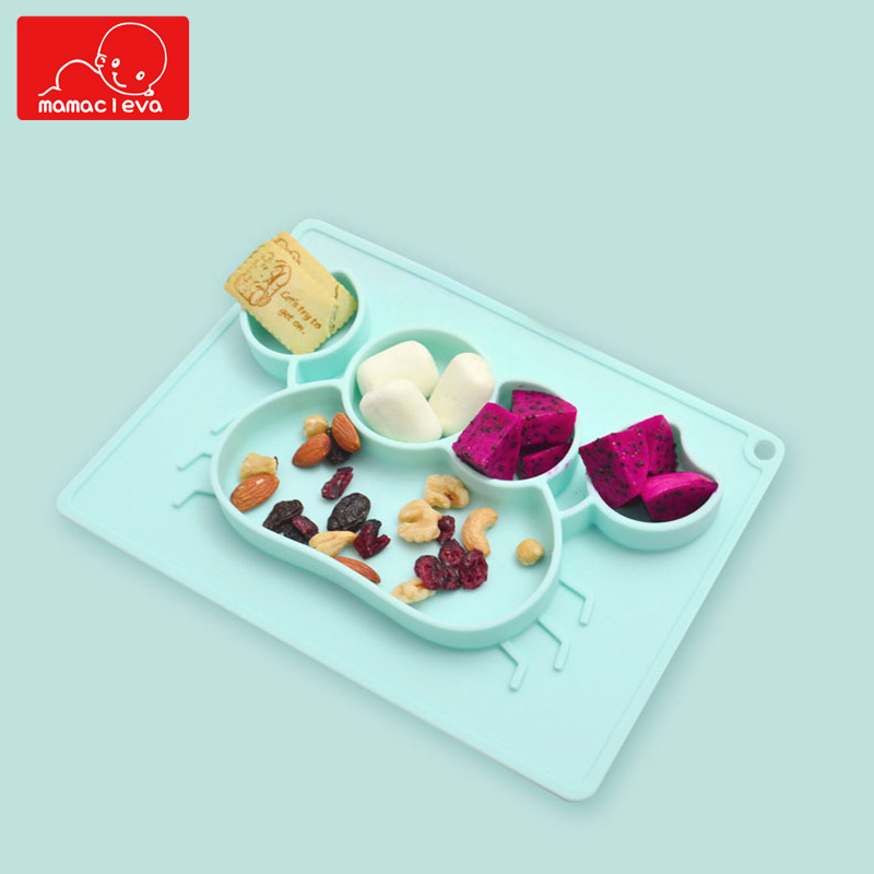 Baby Feeding Mat Toddlers Silicone Placemat Infant Dishes Kids Training Tray Fits Most High Chair Trays Tableware