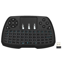 Spanish Version 2.4GHz Wireless Keyboard Touchpad Mouse Handheld Remote Control 4 Colors Backlight for TV BOX Smart PC Notebook(China)