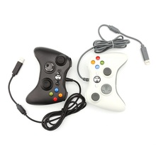 Contrôleur de manette de jeu 3D USB filaire double vibration 360 contrôleur de jeu dordinateur de précision pour Steam Win98/ME/2000/XP/Win7 8