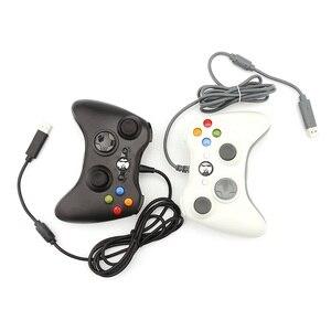Image 1 - Contrôleur de manette de jeu 3D USB filaire double vibration 360 contrôleur de jeu dordinateur de précision pour Steam Win98/ME/2000/XP/Win7 8