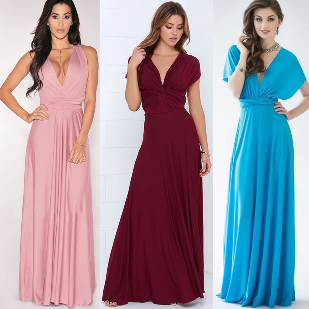 Women sexy convertible multi way wrap maxi dress backless beach women sexy convertible multi way wrap maxi dress backless beach sundress bridesmaid party dresses bandage bodycon long prom gown in dresses from womens ombrellifo Images