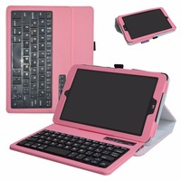 For 8.0 LG G Pad X II 8.0 PLUS T Mobile V530 Android Removable Bluetooth Keyboard case Portable Folding stand Pu Leather Case