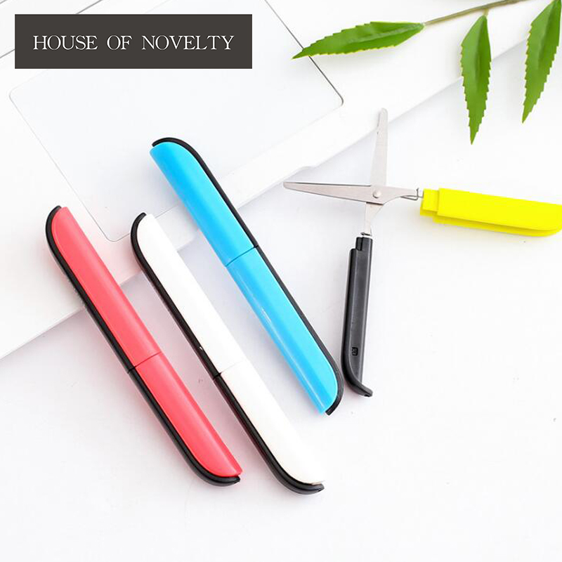Simple Colorful Portable Scissors Stationery Scissors Novelty Household Scissors