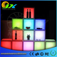 Free Shipping Waterproof H40cm 16colors Illuminated Plant Pots Square,CUBE LED glow Ice Bucket,Led flower Plant cubic Pot LIGHT