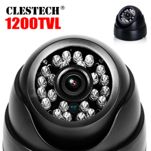 цена на Countdown Sale!1/4CMOS 1200TVL Indoor Dome HD Mini Camera 24led IRCut Security Surveillance Night Vision 30m Home Video vidicon