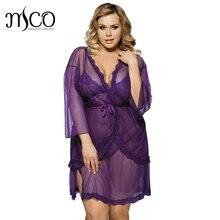 325cd67587 Women s underwear lace see-through blouses Temptations babydoll 3pc set sleepwear  Lenceria Erotica sexy lingerie