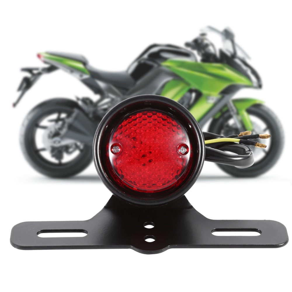 Motorcycle LED Retro Red Rear Tail Brake Stop Light Lamp For Harley Motorcycle Tail Light, Motorcycle LED Brake Tail Light  clear smoke red lens motorcycle red led brake stop rear fender tip tail light indicator lamp for harley breakout fxsb 2013 2016