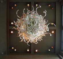 Free Shipping 100% Handmade Artistic Blown Glass Round Crystal Chandelier  цена