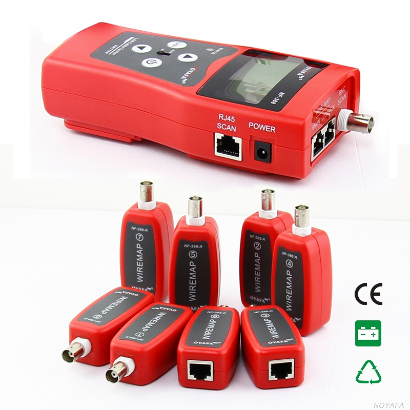 Free Shipping!! NOYAFA  NF-388 Network Cable Tester LAN RJ45 RJ11 USB Cable Coaxial Tester / Bonus Pouch