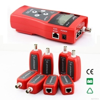 Frete Grátis!! NOYAFA Network Cable Tester LAN NF-388 RJ45 RJ11 USB Cabo Coaxial Tester/Bolsa de Bônus