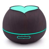 2018 New Design Home Ultrasonic Essential Oil Aroma Diffuser with 7 Color Changing LED Light Wood Grain Air Humidifier 300ML