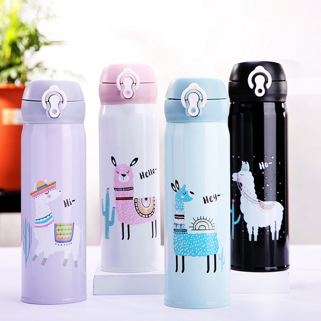 Alpaca Pattern Double Wall Vacuum Flasks