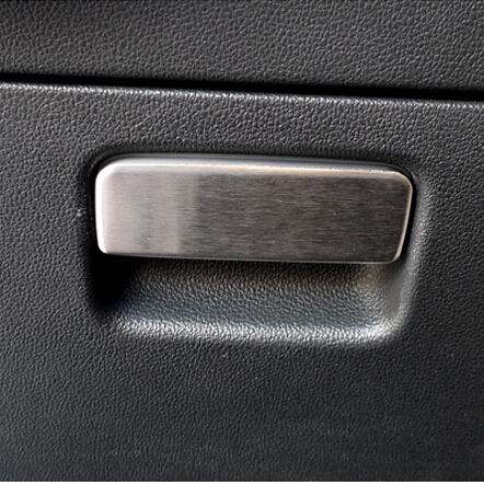 For Volkswagen Golf 7 2014 interior accessories, driving side glove box handle trim, stainless steel, free shipping