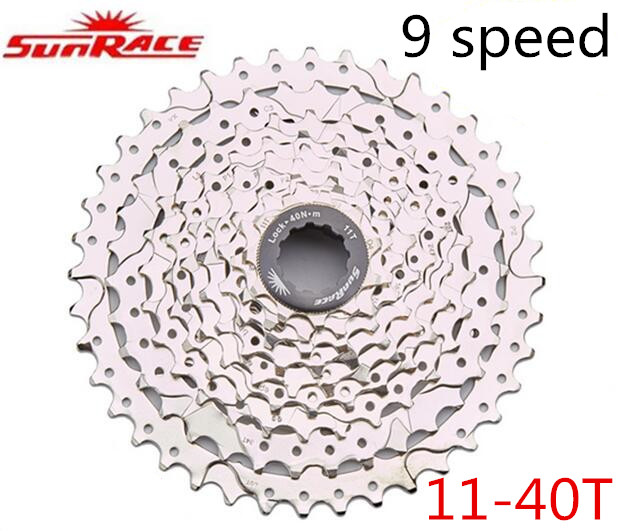 ФОТО SunRace 9 Speed 11-40T CSM990 Bicycle Freewheel Mountain Bicycle Cassette Tool MTB Flywheel Bike Parts  9-speed 11-40T cassettes
