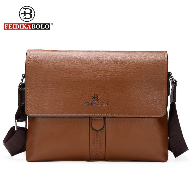 FD BOLO Brand Bag Men Shoulder Bag Leather Handbags High Quality Designer  Men Cover Leather Bags Men Messenger Bags Dollar Price-in Crossbody Bags  from ... 403b78f90a932