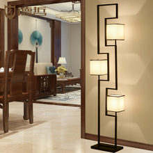 Modern new Chinese floor lamp living room classical study led to lamp bedroom iron antique lamps