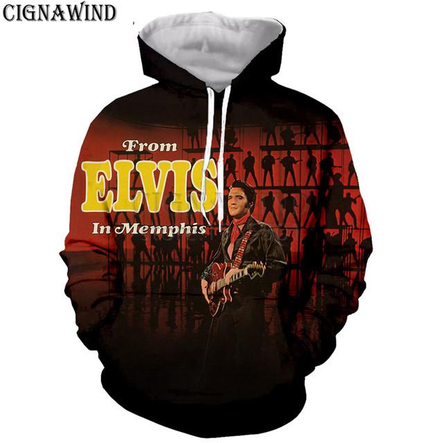 New arrive fashion Pop King ELVIS Presley hoodies men women sweatshirts 3D print fashion hip hop style streetwear casual tops
