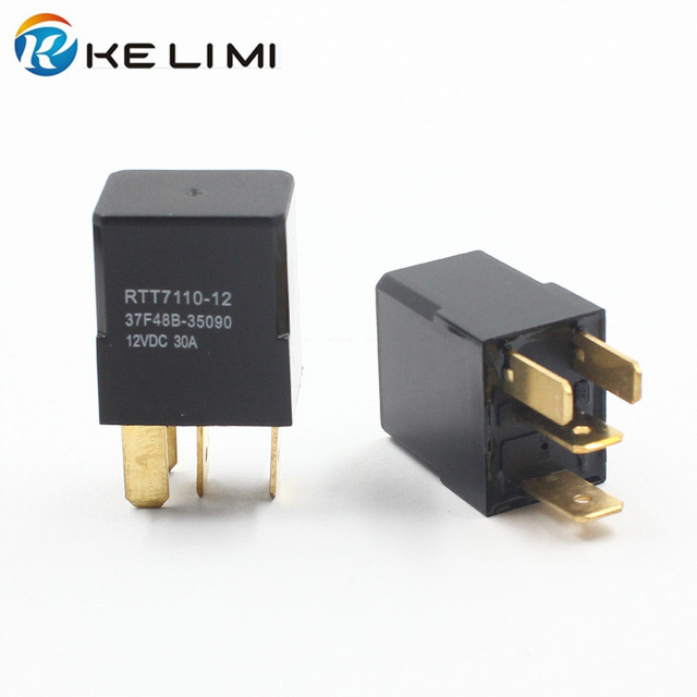 US $35 0 |KE LI MI 12 Volt 30A AMP 4 prong Relay Car Mini DC 12V 30A 4 Pin  Universal Relays-in Car Switches & Relays from Automobiles & Motorcycles on