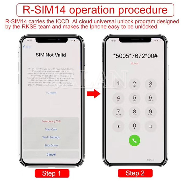 US $4 0 |R SIM 14/13/12+ smart activation unlock SIM support edit iccid no  need dongle for iphone 5 5S 6 6S 6 plus 7 8 plus X XS XR XSMAX-in Phone