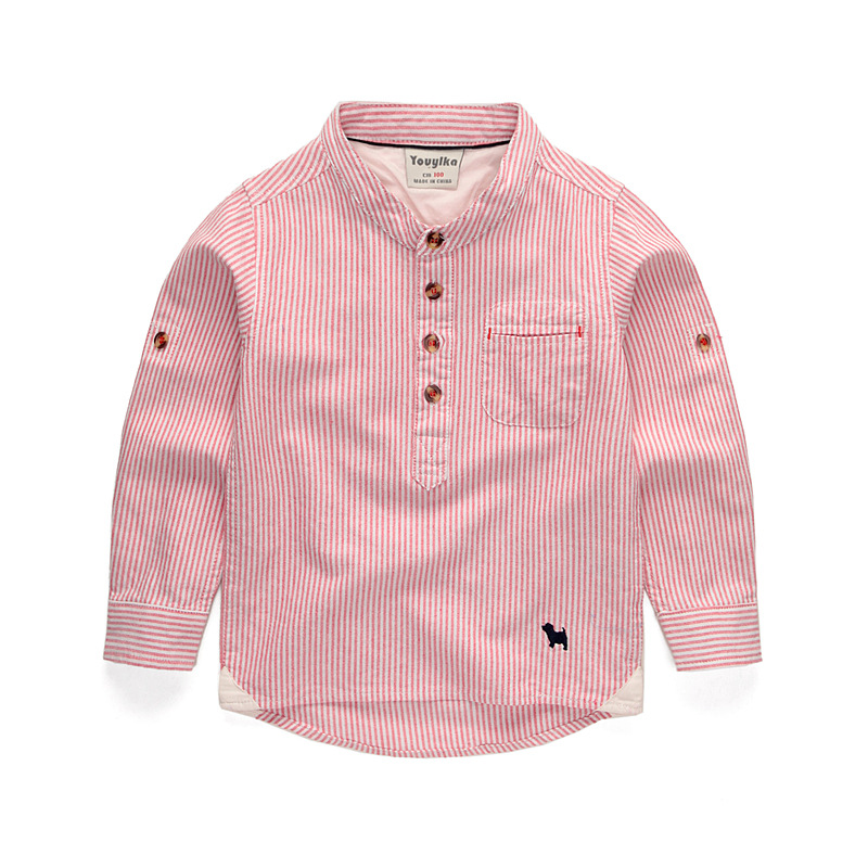 Casual   Blouses   &   Shirts   Children's Long Sleeves   Shirt   Long Sleeve Cotton   Shirt   Autumn For Students 9034